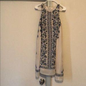 Blue and Cream boho Dress